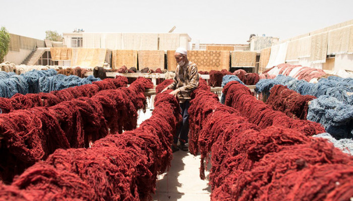 Dyed Yarns of Rug